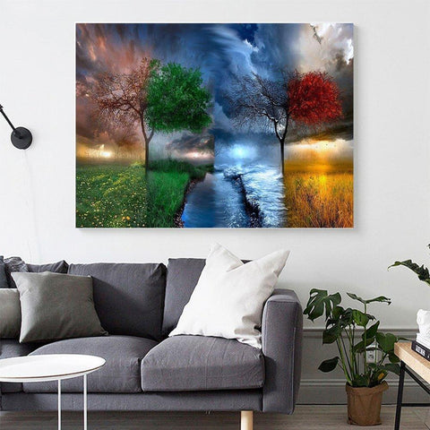 Image of 5D Diamond Painting Tree of Four Seasons