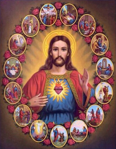 Image of 5D Diamond Painting Sacred Heart of Jesus