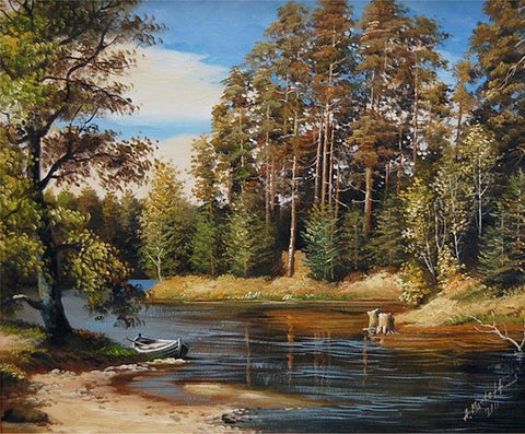 Image of 5D Diamond Painting Water in the Woods