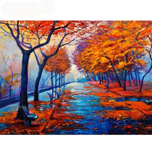 5D Diamond Painting Fall Season at the Park