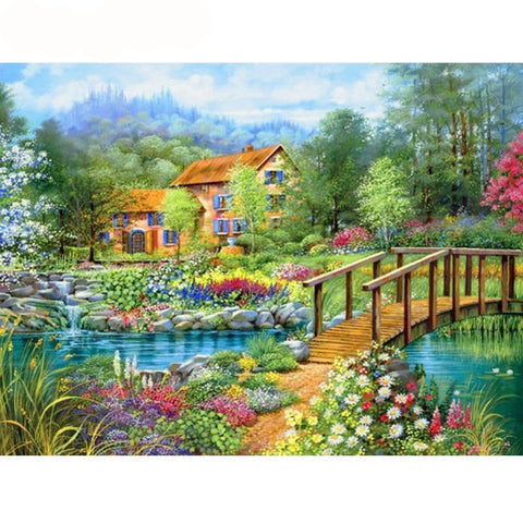 Image of 5D Diamond Painting Countryside Garden