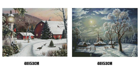 5D Diamond Painting Snow Scene