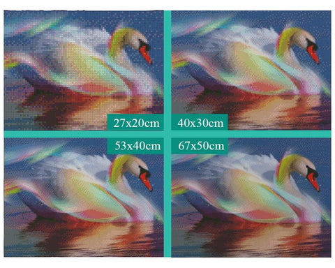 Image of 5D Diamond Painting Beautiful Swan