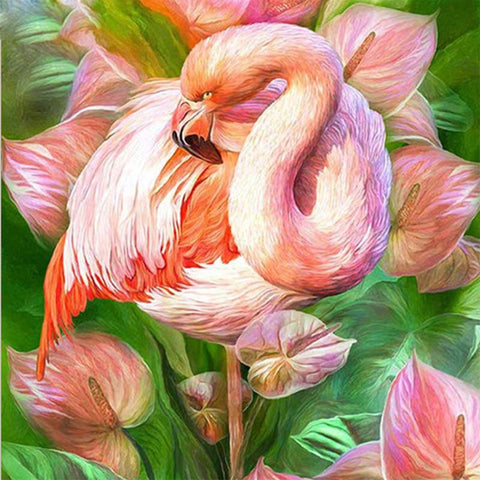 Image of 5D Diamond Painting Pink Flamingo