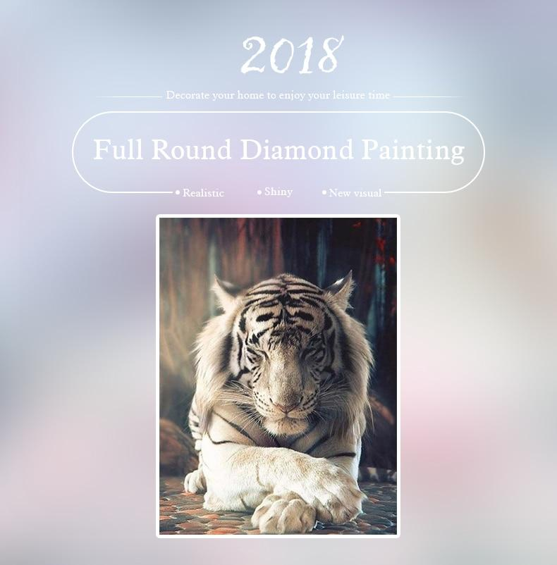 5D Diamond Painting Bengal Tiger