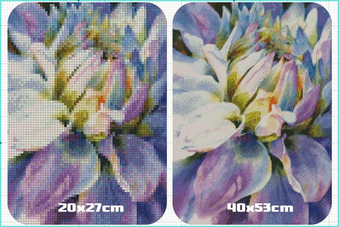 Image of 5D Diamond Painting Handmade Mosaic Flower