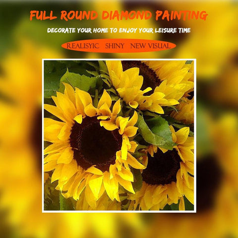 Image of 5D Diamond Painting Sunflower Rhinestone