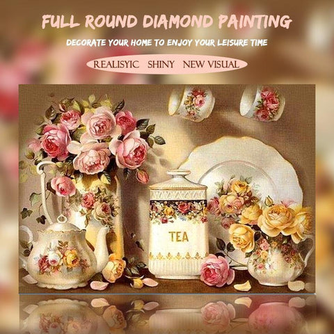 Image of 5D Diamond Painting Kitchen Flower