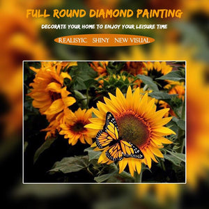 5D Diamond Painting Sunflower and Butterfly