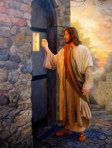 5D Diamond painting Jesus Knocking