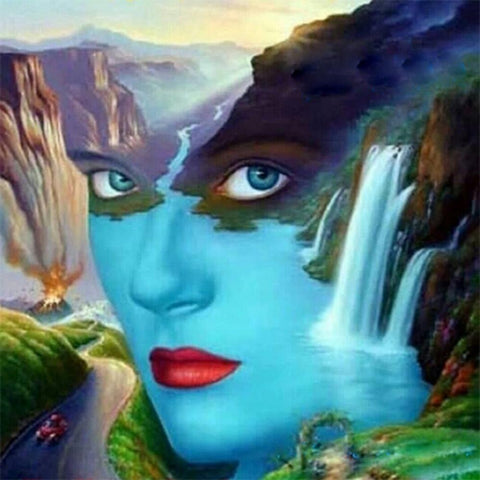 5D Diamond Painting Beauty Face