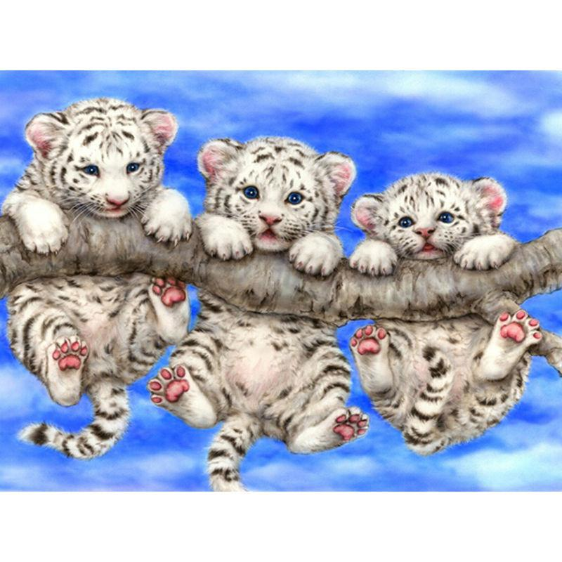 5D Diamond Painting Three Little Tigers