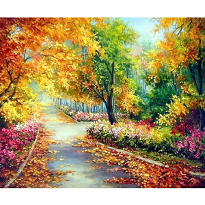 5D Diamond Painting Autumn Park