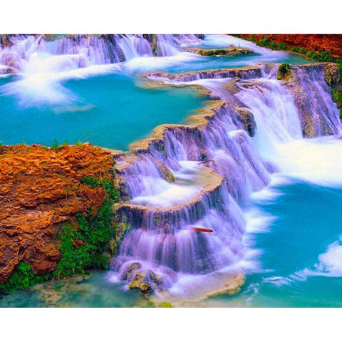 Image of 5D Diamond Natural Waterfall Landscape