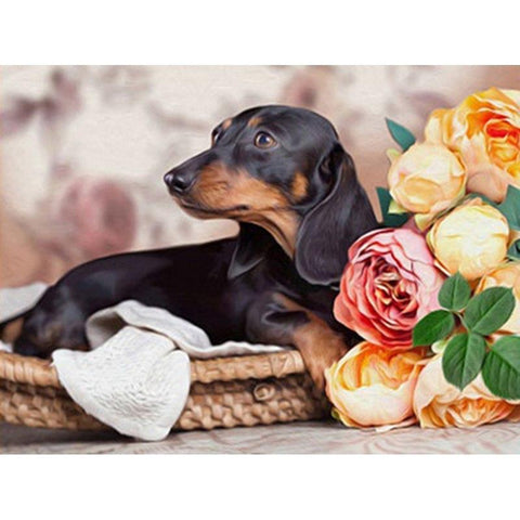 5D Diamond Painting Dachshund