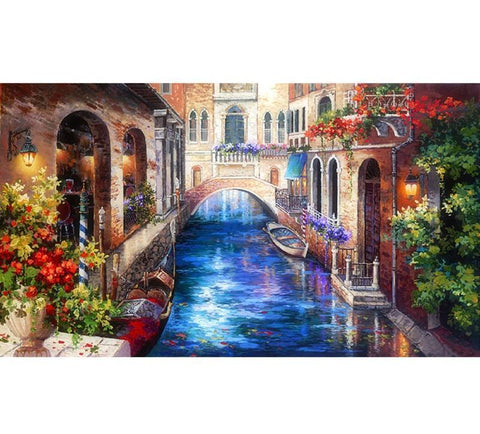 Image of 5D Diamond Painting Romantic Canal Venice