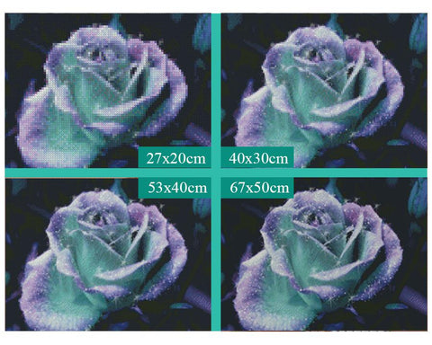 Image of 5D Diamond Painting Purple Rose