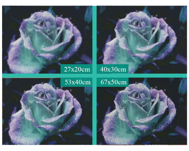5D Diamond Painting Purple Rose