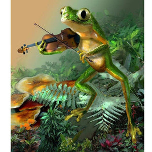 5D Diamond Painting Romantic Frog