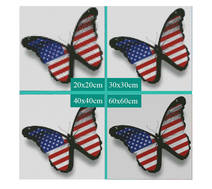 5D Diamond Painting American Butterfly