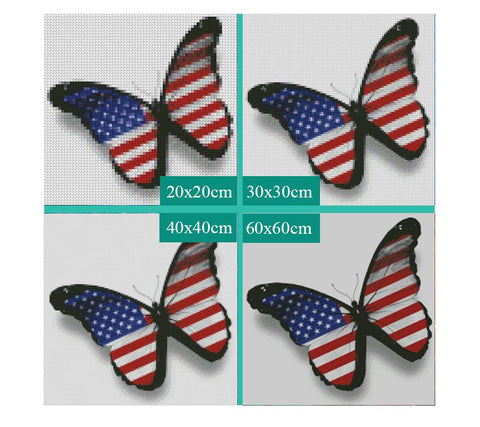 Image of 5D Diamond Painting American Butterfly