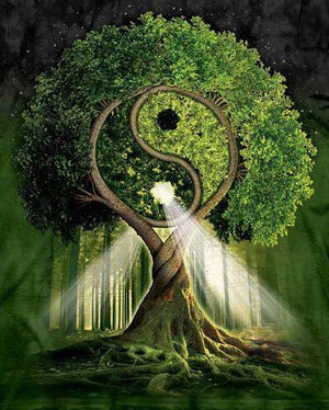 5D Diamond Painting Ying Yang Tree