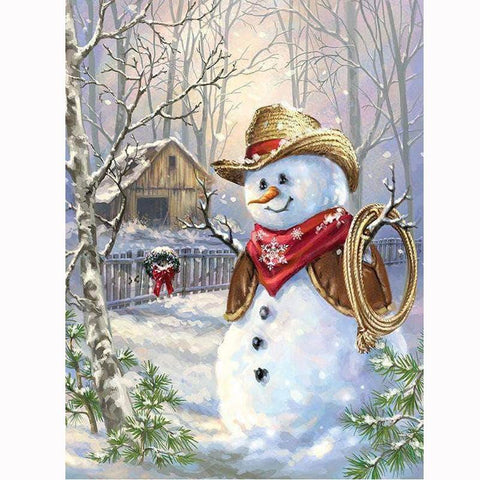Image of 5D Diamond Painting Cowboy Snowman