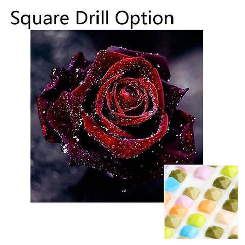 Image of 5D Diamond Painting  Night Rose