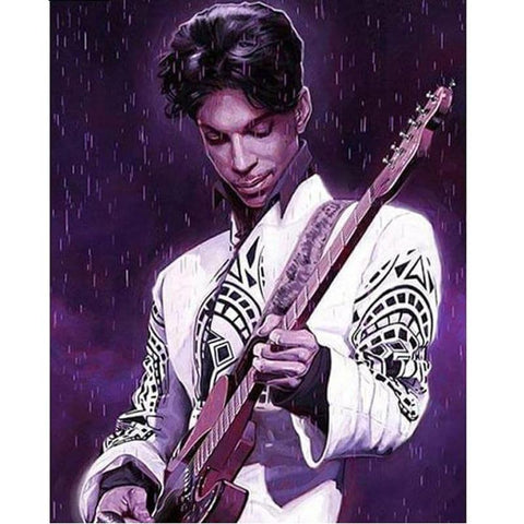 Image of 5D Diamond Painting Purple Rain - Prince