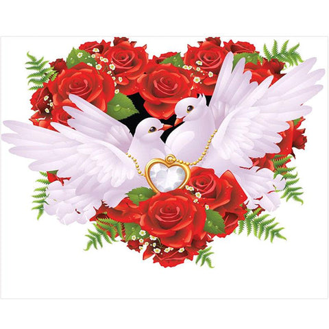 Image of 5D Diamond Painting Peaceful Love Dove