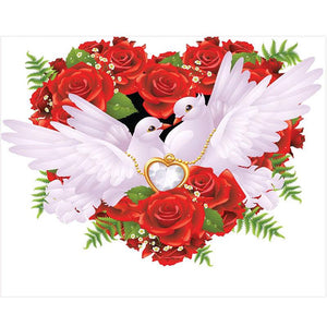 5D Diamond Painting Peaceful Love Dove