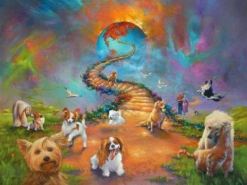 Image of 5D Diamond Painting Dogs Stairway to Heaven