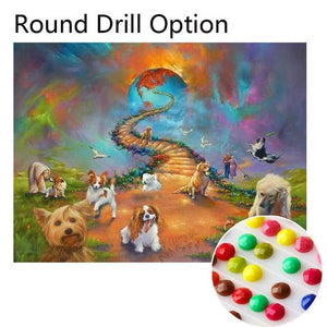 5D Diamond Painting Dogs Stairway to Heaven