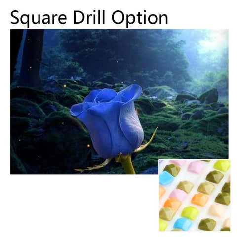 Image of 5D Diamond Painting Blue Rose