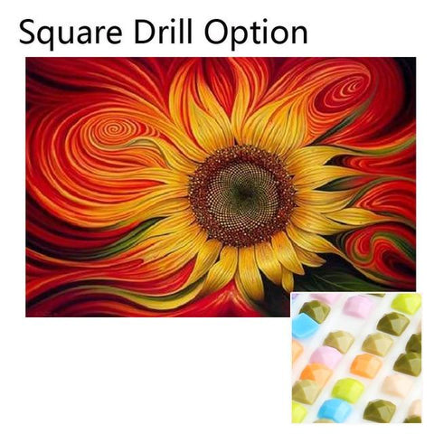 Image of 5D Diamond Painting Warped Sunflower