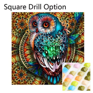 5D Diamond Painting Psychedelic Owl