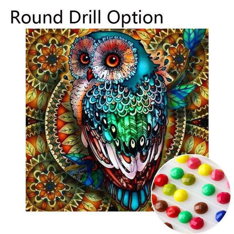 Image of 5D Diamond Painting Psychedelic Owl