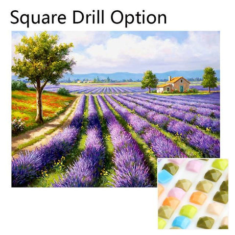 Image of 5D Diamond Painting Lavender