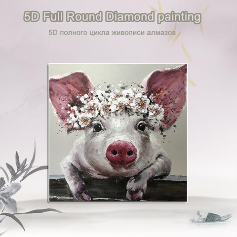 5D Diamond Painting Babe the Pig