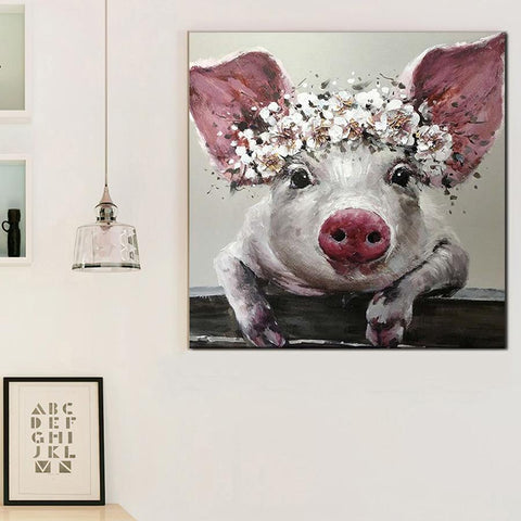 Image of 5D Diamond Painting Babe the Pig