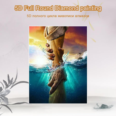 Image of 5D Diamond Painting Hands and Sea