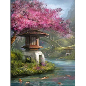 5D Diamond Painting Japanese Garden