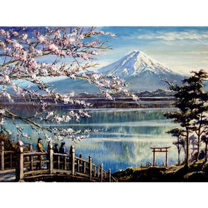 5D Diamond Painting Mount Fuji and Sakura