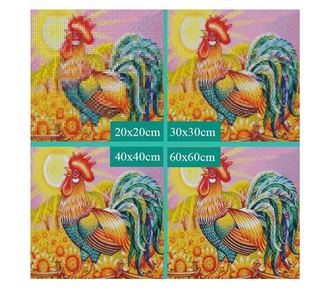 Image of 5D Diamond Painting Radiant Rooster