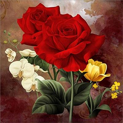 5D Diamond Painting Assortment of Flowers and Roses
