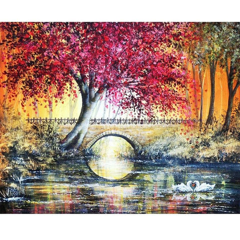 Image of 5D Diamond Painting Small Bridge Tree