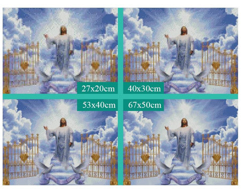 Image of 5D Diamond Painting Jesus Welcoming to the Kingdom of Heaven
