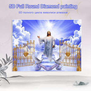 5D Diamond Painting Jesus Welcoming to the Kingdom of Heaven