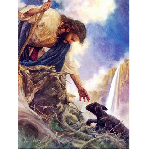 Image of 5D Diamond Painting Jesus Redeemer and the Lamb