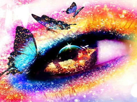 Image of 5D Diamond Painting Glitter Eyes